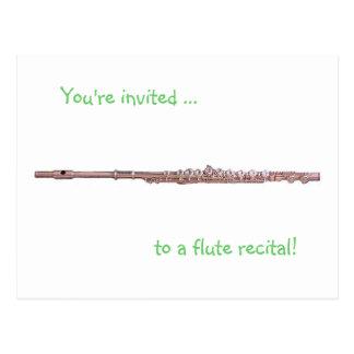 Recital Invitation Post Card