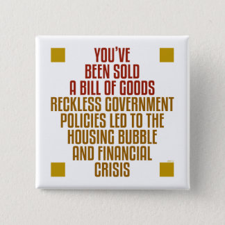 Reckless Government Policies 15 Cm Square Badge