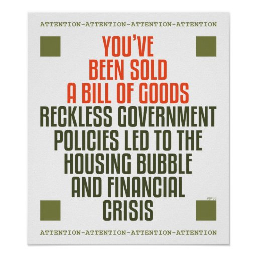 Reckless Government Policies Poster