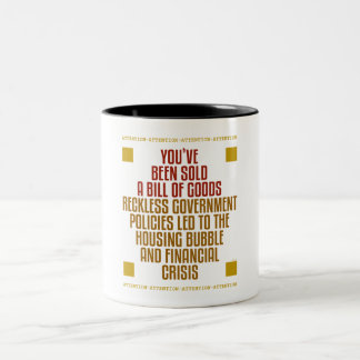 Reckless Government Policies Two-Tone Mug