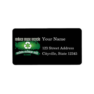 Reclaim, Recharge and Recycle Address Label
