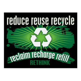 Reclaim, Recharge and Recycle Postcard