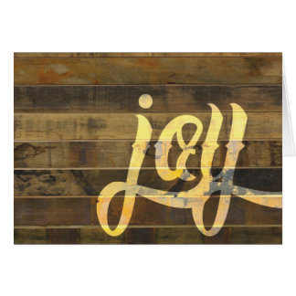 Reclaimed Wood Rustic Typography - Joy Card