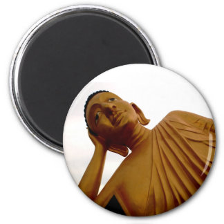 Reclining Buddha ~ Buddhist 6 Cm Round Magnet