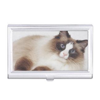 Reclining Cat Business Card Holder