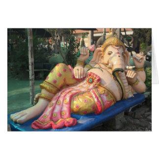 Reclining Ganesha Statue in Chiang Mai, Thailand Card