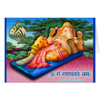 Reclining Ganesha with Cobra Card