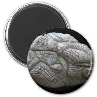 Reclining Goose by Hart (granite) 6 Cm Round Magnet