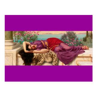 Reclining Greek Lady - Godward Postcards
