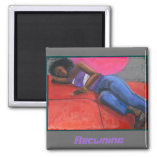 Reclining Square Magnet