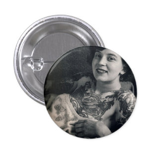 Reclining Tattooed Lady 3 Cm Round Badge