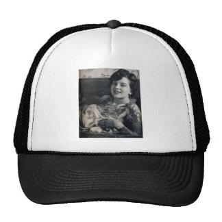 Reclining Tattooed Lady Mesh Hats