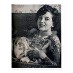 Reclining Tattooed Lady Postcard