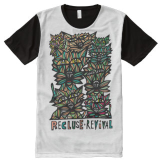 Recluse Revival BuddaKats All- Over Printed Shirt