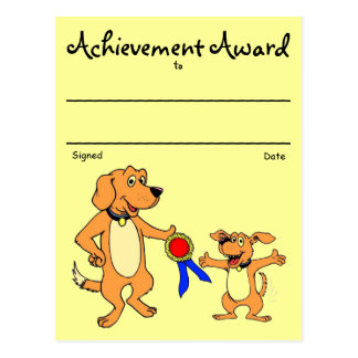 Recognition Award Post Card