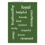 Recognition: Good Values Card