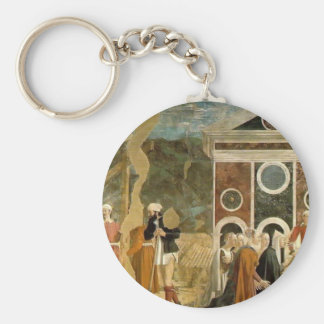 Recognition of True Cross by Piero Francesca Key Chains