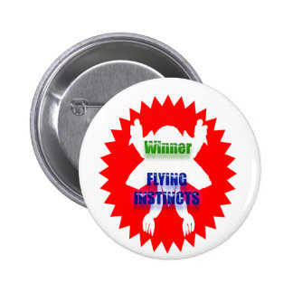 Recognize Excellence : Winner Flying Instincts 6 Cm Round Badge