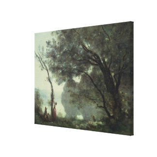 Recollections of Mortefontaine, 1864 Canvas Print