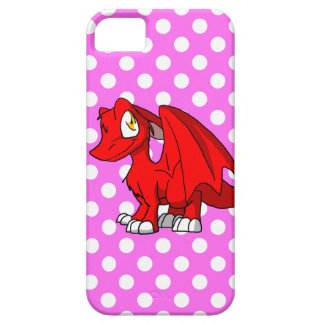Recolorable SD Furry Dragon w/ Pink Polkadot Back iPhone 5 Cover