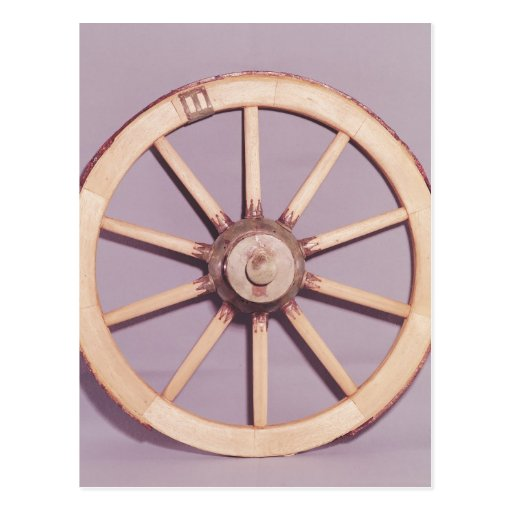 Reconstruction of a wheel post card