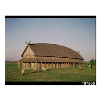 Reconstruction of an 11th century Viking house Postcard