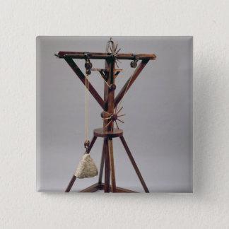 Reconstruction of da Vinci's design 15 Cm Square Badge