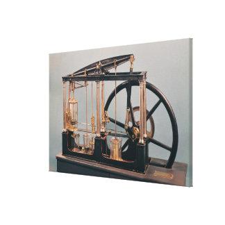 Reconstruction of James Watt s steam engine Canvas Print