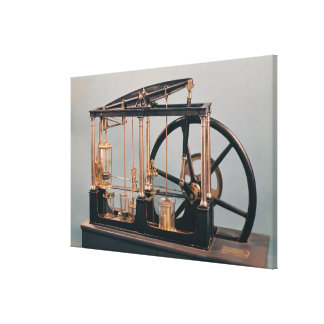 Reconstruction of James Watt's steam engine Canvas Print