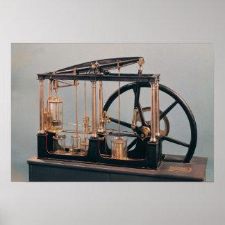 Reconstruction of James Watt's steam engine Poster