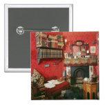 Reconstruction of Sherlock Holmes's Room 15 Cm Square Badge