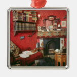 Reconstruction of Sherlock Holmes's Room Silver-Colored Square Decoration