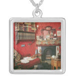 Reconstruction of Sherlock Holmes's Room Square Pendant Necklace
