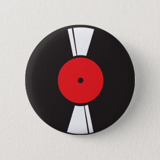 Record 6 Cm Round Badge