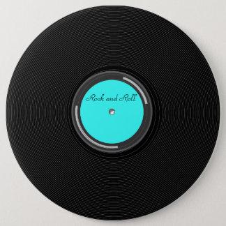 Record Album 6 Cm Round Badge