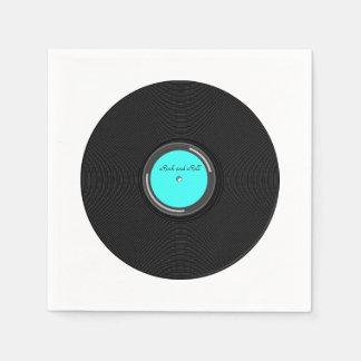 Record Album Disposable Serviette