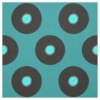 Record Album Pattern Fabric