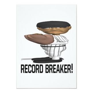 Record Breaker 13 Cm X 18 Cm Invitation Card