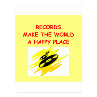 record collecting postcard