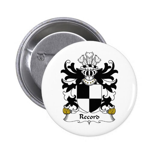 Record Family Crest Pins