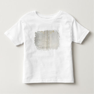 Record of colonies in Warthebruch, Poland, 1775 Toddler T-Shirt