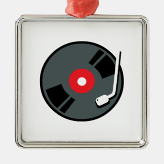 Record Player Christmas Ornament