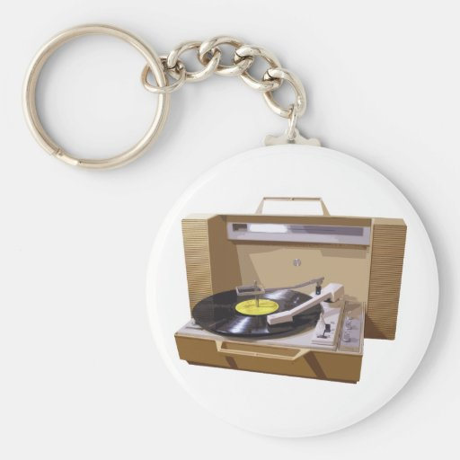 Record Player keychain