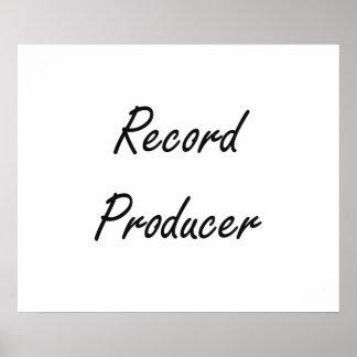 Record Producer Artistic Job Design Poster