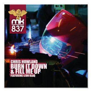 Record Sleeve Proof Burn It Down Fill Me Up Poster