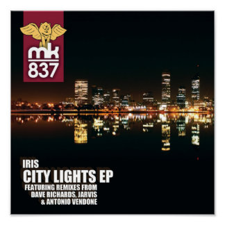 Record Sleeve Proof City Lights EP Poster