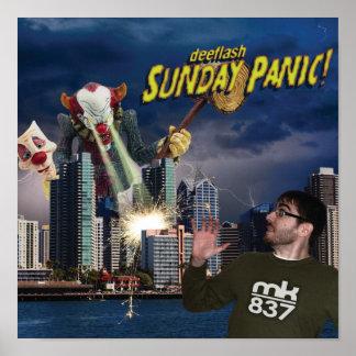 Record Sleeve Proof Sunday Panic Poster