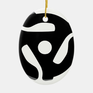 Record Spider Ceramic Oval Decoration