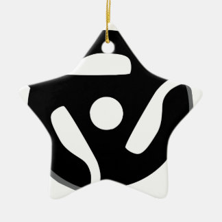 Record Spider Ceramic Star Decoration