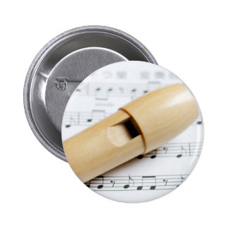 Recorder And Sheet Music Pins